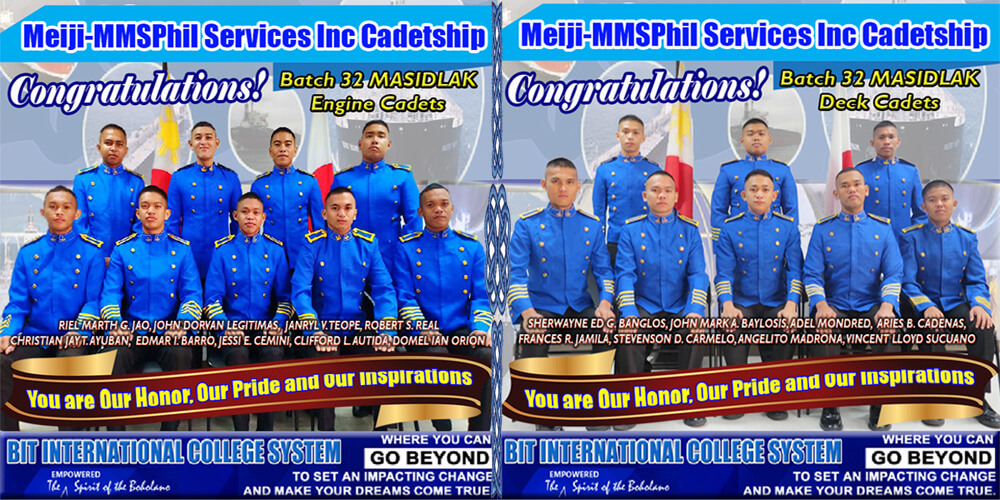To BATCH 32 MASIDLAK DECK AND ENGINE CADETS FROM BIT INTERNATIONAL COLLEGE